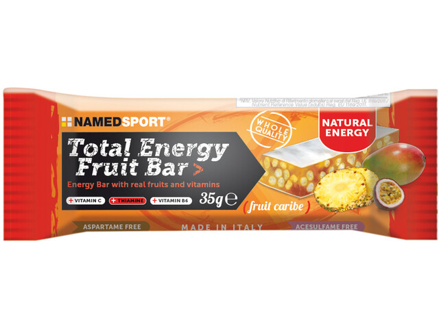 NAMEDSPORT Total Energy Boîte de barres aux fruits 25 x 35g, Caribe